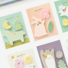 2pcs/lot werk leven notitie memo pad kladblok briefpapier kantoor stickers kawaii materiële kantoor& school supplies(China)