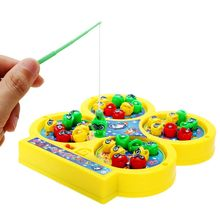 1 PC 2017 New Arrival Funny Kids Electronic Magnetic Bait Fishing Toy Magnet With Music Fishing Game Electric Plastic Fish Toys