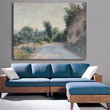 Cheapest Abstract Claude Monet Country Road Landscape Oil Painting Printed On Canvas For Home Wall Decoration Unframed
