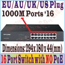 Plug and Play, 16 ports gigabit 1000Mbps Switch without POE port, For NVR and CCTV IP Cameras / wireless AP, Metal Cabinet