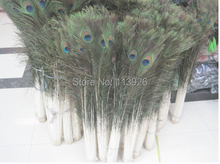 EMS free 100pcs (32-36inches) 80-90cm natural peacock feathers wedding decoration HF0117