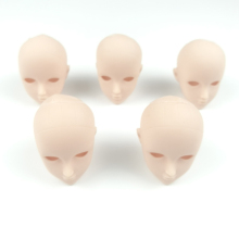 5pcs 1/6 BJD Doll Head Mini Mannequin Heads Doll Figure Option Head Accessories Rubber doll head(China)