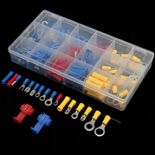 160pcs Mayitr Crimp Cable Connectors Insulated Electrical Wire Terminals Spade Assortment Kit With Box