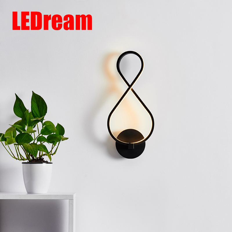 Nordic led wall lamp contracted and contemporary artistic personality TV wall lamps the head of a bed lamp corridor lamp(China (Mainland))