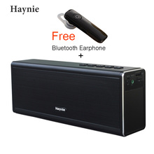 HAYNIE Super Bass 20W Bluetooth Speaker 4400mAh Power Bank Portable Computer Wireless Metal Speaker VS Piple S5 Bluedio BS-3(China)