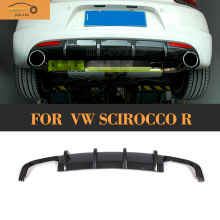 Scirocco R carbon fiber car cover bumper rear lip diffuser vw scirocco 2009 - 2014 Car Styling JUN-CHI Official Store store