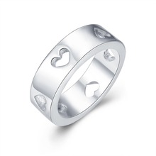 New Fashion Silver-Plated Multi Hollow Out Heart Thumb Ring Fashion Jewelry for Girlfriends Couples Wholesale JZ3486