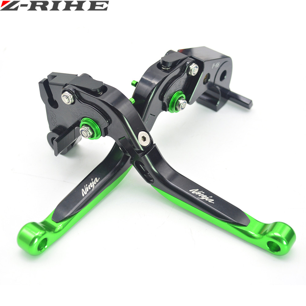 Motorcycle Brake Levers adjustable Folding Bike extensible CNC Clutch For Kawasaki ZX1100 ZX-11 1990-2001 ZX7R ZX7RR 1989-2003 <br>