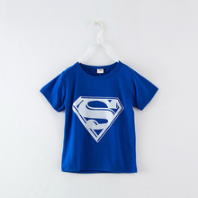 2016 Summer Style Fashion Cotton Girls Boys Clothes Superman Children T Shirts Kids Boy Short Sleeve T shirts