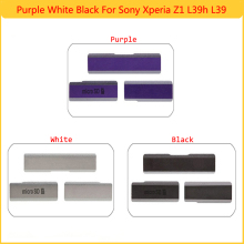 For Sony Xperia Z1 L39H LT39 C6902 C6903 C6906 C6943 Sim Card Slot Port Micro SD USB Dust Plug Cover Free Shipping
