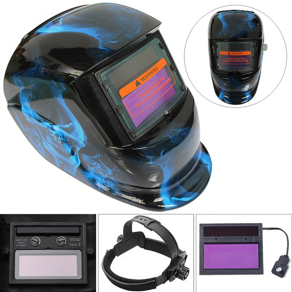 Blue Phantom Adjust Solar Auto Darkening TIG MIG Grinding Welding Helmets / Face Mask / Electric Welding Mask / Weld Cap<br>