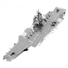 Uss Enterprise Cvn-65 3D DIY Metal Model Puzzle Miniature Scale Building Kits Toy Adult Hobby Educational Academia Creative(China)