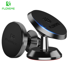 FLOVEME Universal Car Holder 360 Degree Magnetic Car Phone Holder GPS Stand Air Vent Magnet Mount for iPhone 5s 7 6 8 X Soporte(China)