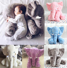 2017 New Baby Kids Boys Girls Long Nose Elephant Doll Pillow Plush Stuff Toys Lumbar Pillows