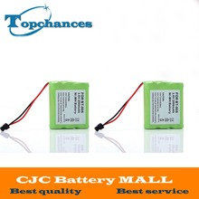 2 pcs High Quality 3.6v 2000 mAh NI-MH Phone Battery for Panasonic KX-A36 P-P501 for Uniden BT-905