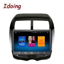 "Idoing 1Din10.2"" 2GB+32GB For Mitsubishi ASX Android 6.0 Steering-Wheel Octa Core Car GPS Player Navigation Fast Boot 4G NO DVD"