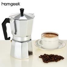 Homgeek Coffee Maker 3cup/6cup/9cup/12cup Aluminum Espresso Percolator Coffee Stovetop Maker Mocha Pot For Home(China)