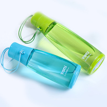 320ml/420ml 4 Candy Color space bottle with Portable rope Filter lovely children food grade plastic water bottle(China)
