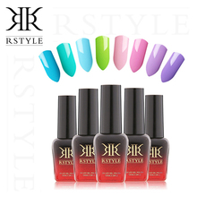 RSTYLE 10ML 01-58 Gel Nail Polish Soak- off UV Nail Gel Plosih Nail Art Manicure Vernis Permanent Gel Varnish Eco-friendly(China)