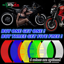 Buy One Get One Motorcycle Styling New Wheel Hub Rim Stripe Reflective Decal Stickers Safety Reflector For YAMAHA HONDA KAWASAKI(China)
