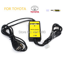 Car Digital USB MP3 Interface Adapter with 3.5mm AUX In Input For TOYOTA Camry Corolla Free shipping(China)