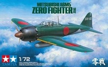 Tamiya assembled aircraft model 60779 1/72 Japan A6M5 zero type 52 military shipboard fighter