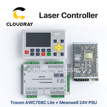 Cloudray Trocen Anywells AWC708C Lite Co2 Laser Controller System + Meanwell 24V 3.2A 75W Switching Power Supply(China)