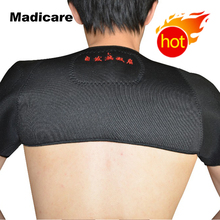 Magnetic Tourmaline heating shoulder support wrap Therapy tourmaline heat shoulder Protection brace(China)