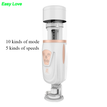 Buy Easy Love Telescopic Lover 2 Automatic Retractable Electric Male Masturbator man vagina real pussy vibrator Sex Toys Men