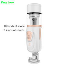 Buy Easy Love Telescopic Lover 2 Automatic Retractable Electric Male Masturbator pussy vagina realistic silicon Sex Toys Men gay