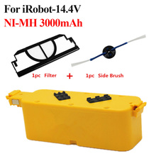 14.4V 3000mAh Vacuum Cleaner NI-MH Battery for irobot roomba 400 series 4100 rechargeable battery + Side Brush and Filter