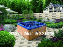 2806 Backyard whirlpool / portable hot tubs spas with 7 seats for party(China)