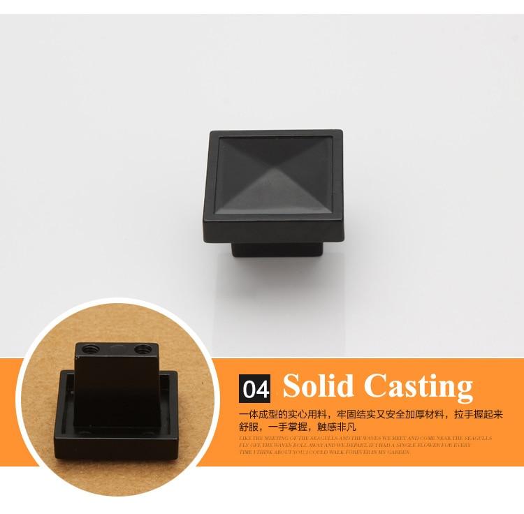28mm square shape Single Hole Knob Zinc Alloy Kitchen Furniture knob drawer knob black color<br><br>Aliexpress