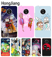 HongJiang Rick and Morty case cover for For Motorola moto G6 G5 G4 PLAY PLUS zuk z2 BQ M5.0(China)