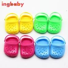 Suitable For 18 Inch American Girl Shoes Jelly Shoes Children's Fashion DIY Toys Sandals Plastic Doll Decoration WJ971 ingbaby(China)