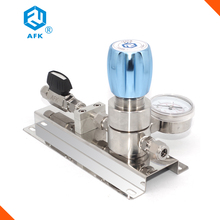 "stainless steel 1/4""NPT Low pressure gas control panel single stage co2 Argon helium nitrogen oxygen gas pressure regulator"