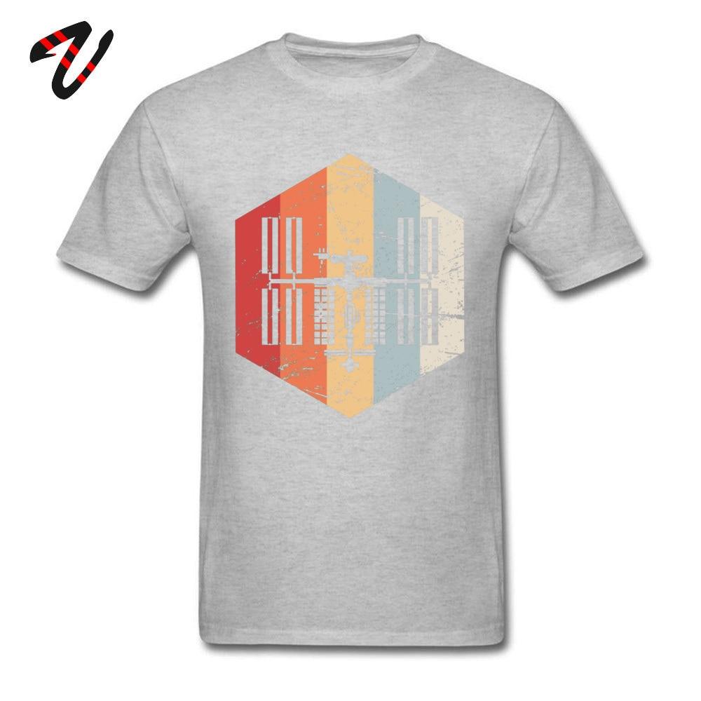 Printed On _black T Shirt Hot Sale Short Sleeve Men T Shirts TpicOriginaltitle Fitness Tight Summer Autumn Tops Shirt Crew Neck Retro ISS International Space Station Icon 19 grey