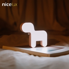 Novelty Cute Puppy Dog LED Night Light Touch Switch USB Rechargeable Battery Make Up Light LED Table Lamp Kids Gifts for Girls(China)