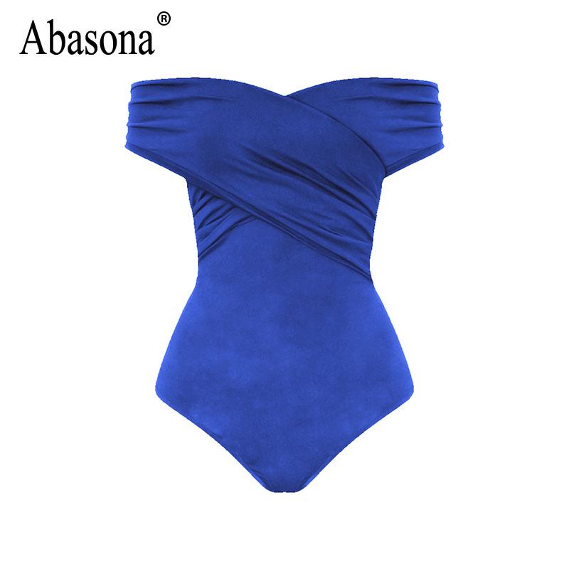 Abasona Bodysuit Women Body Suits For Women Sexy Romper Body Top Womens Sexy Off Shoulder Bodysuits Casual Beach Wear Playsuits 9