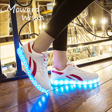 Good Quality Luminous Glowing Sneakers Children Led Shoes with Light Up Sole for Boys Girls Infantil Femme LED Slipper Kids 30