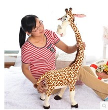 90 cm lovely giraffe plush toy Madagascar Melman giraffe doll throw pillow, birthday , Christmas gift b4599