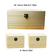 3in1 Essential Oil Wooden Storage Box set -1p 24 holes 10ml & 5 holes 50ml and 2p 6 holes 10ml Natural pine wood without paint