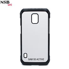 DIY Sublimation Phone Case For SAM S5 ACTIVE 9200 2D PC Heat Transfer Blank Cover Black White Clear Colors Brand NSBuni
