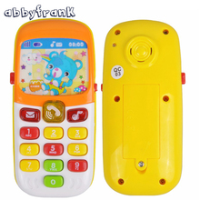 Abbyfrank Mini Cute Electronic Toy Phone Children Phone Toy Musical Education Cartoon Mobile Phone Telephone Cellphone Baby Toys