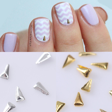 50Pcs 1*2.5mm Pyramid 3D Nail Decoration Nail Art Studs UV Gel Nail Art Decoration # 23270