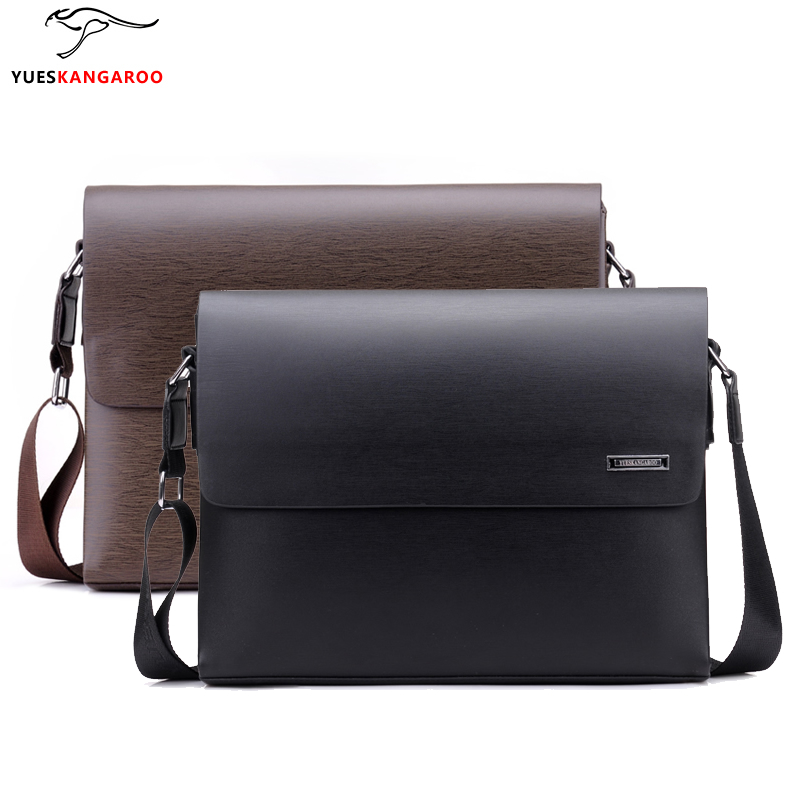 Hot Sale 2017 Fashion Business Leather Men's Messenger Bags Designer Handbags High Quality Crossbody Vintage Shoulder Man Bag(China (Mainland))