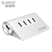 ORICO USB HUB 1 Ports USB3.0 5Gpbs 3 Ports USB2.0 480Mbps Speed Aluminum Alloy Designed for iMac Desktop Laptop with 100cm Cable