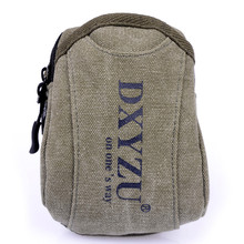 Hot Sale 2016 New Retro Alphabet Zipper Casual Canvas Waist Bag Hang Package Phone Bag with Hook Free Shipping