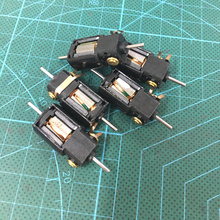 5pcs 1.5V-3V dc  4 Wire 2 Phase micro stepper motor with output copper gear Miniature stepper motor D8mm x H9.2mm