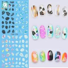 Rocooart DS234 Factory Designer Water Transfer Nails Art Sticker Little Leaves harajuku Nail Wraps Sticker French stickers(China)
